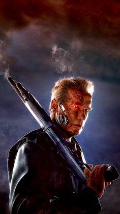 ↑↑TAP AND GET THE FREE APP! Lockscreens Art Creative Terminator Genisys Movie Cinema Arnold Schwarzenegger Shot Gun Fire Red Eye HD iPhone 6 Lock Screen