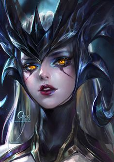 Coven Camille (skin) portrait: League of Legends (LOL) game digital drawing [Artist: OrekiGenya] of legends poppy Lol League Of Legends, League Of Legends Camille, League Of Legends Characters, Legend Drawing, Drawing Artist, Dark Fantasy Art, Fantasy Girl, Coven, Character Inspiration