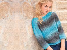 Pullover in hellen Pastelltönen Free Pattern, Knit Crochet, Knitting Patterns, Sweaters, Diy, Knits, Abstract, Fashion, Tricot