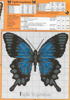 Cross-stitch Two Pretty Butterflies, part Gallery. Butterfly Cross Stitch, Cross Stitch Bird, Cross Stitch Animals, Cross Stitch Flowers, Cross Stitch Charts, Cross Stitching, Cross Stitch Embroidery, Modern Cross Stitch Patterns, Cross Stitch Designs