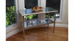 Best Seller TRINITY EcoStorage NSF Stainless Steel Table, 48-Inch