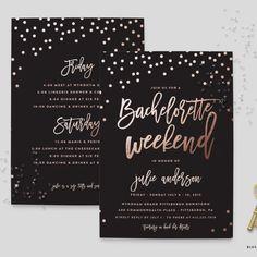Bachelorette Weekend Party Invitation