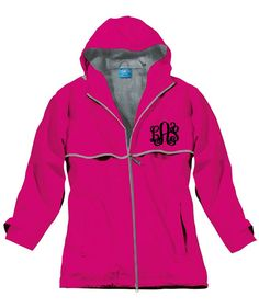 Ladies Hot Pink Monogrammed Personalized New by LifeAStitch