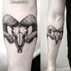 Afbeeldingsresultaat voor ram skull tattoo
