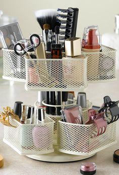 Makeup & hair product carousel #organization