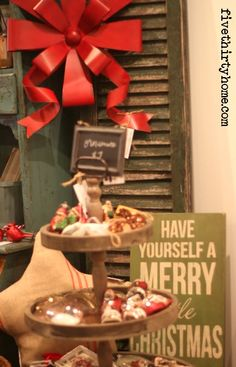 Christmas décor from fivethirty home.