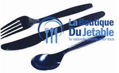 Des couverts jetables en plastique noirs de luxe.  http://www.laboutiquedujetable.fr/couverts/207-couvert-plastique.html