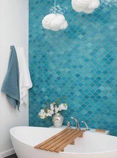 Moroccan Bathroom, Modern Bathroom, Small Bathroom, Blue Bathrooms, Moroccan Tiles, Colorful Bathroom, Bad Inspiration, Bathroom Inspiration, Bathroom Renos