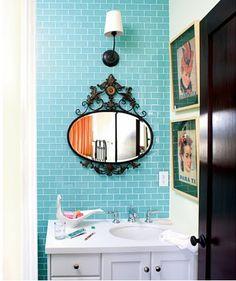 Turquoise Subway Tiles bathroom ideas