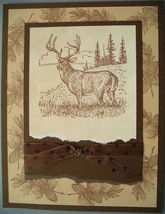 CAS108, A Noble Deer by calgirl - Cards and Paper Crafts at Splitcoaststampers