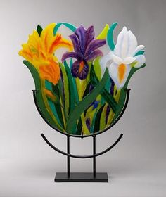 The Orchard Gallery of Fine Art, Glass by Guest Artists Slumped Glass, Fused Glass Art, Stained Glass Art, Mosaic Glass, Glass Artwork, Glass Wall Art, Window Glass, L'art Du Vitrail, Glass Fusion Ideas