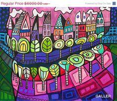 35% OFF SURREAL Teeth Original Painting by por HeatherGallerArt