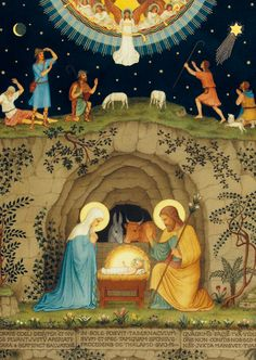 Lo, this is our God; we have waited for Him and He will save us.… we have patiently waited for Him; we shall rejoice and be joyful in His salvation. Christmas Scenes, Christmas Nativity, A Christmas Story, Christmas Art, Religious Images, Religious Art, Nativity Painting, Jesus Painting, Christian Images