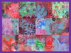 Collage aus Gelli Plate Papieren