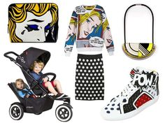 Stroller street style | What to rock with DOT? Primary colours, comic graphics & polka dots. Think big, bold & plenty of WOW!