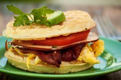 Check out this great recipe for a savory Cheddar Waffle BLT sandwich! #sandwich #blt #food #recipe www.doyoubake.com/cravings