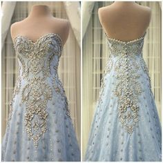 Luxury Crystal Rhinestones Wedding Dress Bridal Gown with Feather Train Custom Mak Tumang Gowns, Bridal Dresses, Prom Dresses, Fairytale Gown, Moda Fashion, Designer Gowns, Cheap Wedding Dress, Beautiful Gowns, Dream Dress