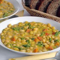 Raw Vegan, Chana Masala, Vegetable Recipes, Cheeseburger Chowder, Risotto, Food And Drink, Vegetarian, Menu, Lunch