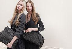 TWIN-SET Simona Barbieri: Elizabeth bauletto bag and Cécile satchel bag with heart-shaped studded