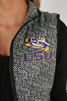 Louisiana State University Herringbone Vest