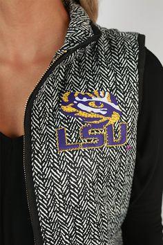 Louisiana State University Herringbone Vest