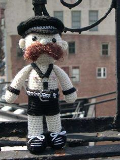 Amazing... A crochet doll with nipple rings. I love it.