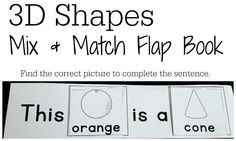 3D Shapes Free Activities