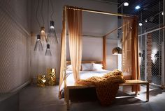 Looking inside the booth. * What's new. ILletto - canopy bed by Lapo Ciatti Textile edition by Maurizio Galante+Tal Lancman | LApanca - bench by Lapo Ciatti | LAlampada Mirror - floor lamp by Lapo Ciatti  * OC collection. Batti.Batti - lamp by Studio Skrivo | Tab.u - stool by Bruno Rainaldi   #followyourroots #myopinionworld #design #interior #exhibition