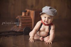 Train Conductor Outfit Boys Cake Smash Train by fourtinycousins