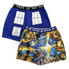 Doctor Who Van Gogh TARDIS Boxer Briefs
