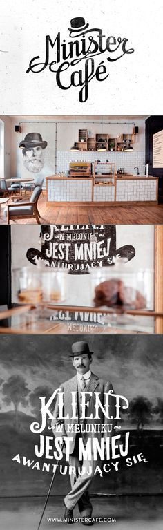 """This is a good example of building out an initial logo or theme for use with other applications. """"identity of minister café"""" #iconika #Likes"""