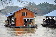 Kanchanaburi, Thailand: River Kwai Houseboats by Lee Snider, via Dreamstime