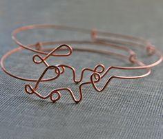 Wire Love Bracelet - Rose Gold - Trend Uncovet