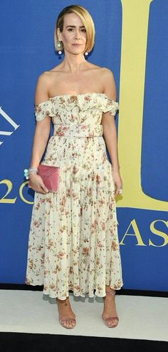 b57d01f8b0 Sarah Paulson in Brock Collection attends the CFDA Fashion Awards in NYC.