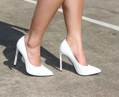 The Saintly white heel - Part of my #stockholmchic outfit!