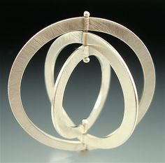 Orbit #2 (Ring-a-Day : January 8, 2010.) Sterling silver. This ring is kinetic and can be worn in 6 different ways.