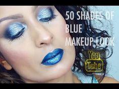 50 SHADES OF BLUE MAKEUP LOOK | ISASBEAUTYSPACE