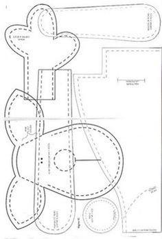 Moldes de renos de fieltro gratis para imprimir03
