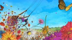 Lisa Aisato Lisa, Painting Inspiration, Illustrator, Character Design, Watercolor, Nature, Instagram, Swings, Graphics