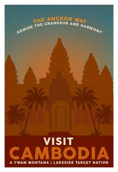 vintage travel posters cambodia - Google Search