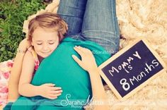 Mother daughter maternity photo