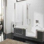Bathroom Brilliant Corner Walk In Tub Shower Combo With