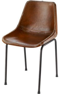 Leather Schoolhouse Chair: - modern - dining chairs and benches - Rejuvenation