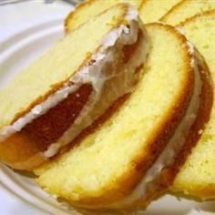 """""""This a really good down-home style, back to basics pound cake that my whole family enjoys! This recipe was handed down to me with the stipulation of   placing the cake in a cold oven, and it turns out perfectly every time."""""""