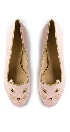 Jeweled Kitty Flats