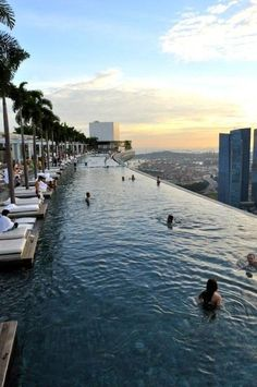Go to Marina Bay Sands infinity pool in Singapore