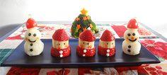 Strawberry Banana Santa #kerst #kinderen #fruit