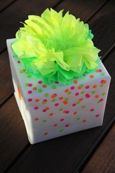 Neon DIY Gift Wrap-DIY Gift Wrap