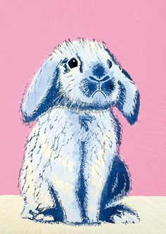 'Bunny' by Printmaker Mary Collett.  Blank Art Cards By Green Pebble.  www.greenpebble.co.uk