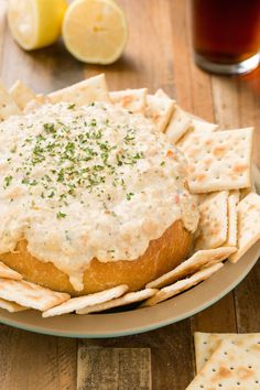 Clam Chowder Dip in a Bread Bowl